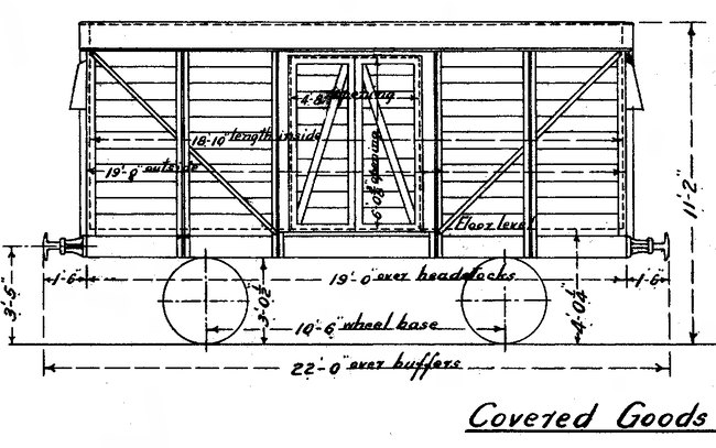 72 covered goods wagon